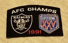1991 AFC CHAMPS OAKLAND RAIDERS PATCH Super Bowl XXV (never happen) Rare