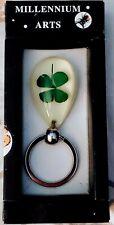 Artificial Amber 4 Leaf Clover Keychain