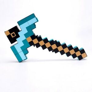 2 in 1 Minecraft Games Transforming Diamond Sword And Pickaxe Hoe Toys Kid's TOP