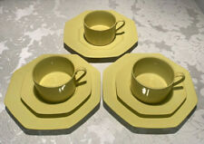 Fitz & Floyd Coffee or Tea Cups & Saucers & Plates - Bright Yellow