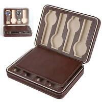 Leather Watch Display Case Storage Box Winder Jewelry Collection Women Men