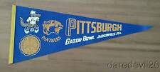 Vintage 1977 Pittsburgh Panthers Gator Bowl Game NCAA Football Event Pennant