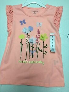 Girls-Top-Size 5T-Color Peach-Saying Daddy's Little Darling-Brand Wonderkids-New