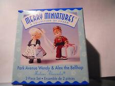 Hallmark Merry Miniatures Madame Alexander Park Avenue Wendy & Alex The Bellhop