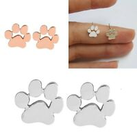 Womens Dog Puppy Cat Animal Paw Print Ear Stud Earrings Jewelry Accessories