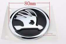 VW Genuine Emblem Badge SKODA For FABIA OCTAVIA RAPID 80mm Diameter