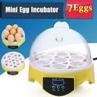 Automatic Digital 7/12/48/56 Egg Incubator Hatcher Turning Temperature E 130