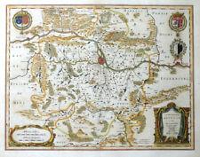 Francia Metz territorio metense auctore Fabert Messin STEMMA Blaeu 1642