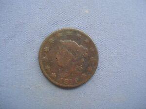 "1819 USA - 1 Cent ""Liberty Head / Matron Head - Copper - K1179"