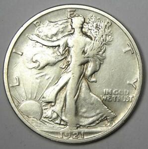 1921-S Walking Liberty Half Dollar 50C - Fine Details - Rare Date!