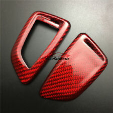 Red Carbon Fiber Smart Remote Key Fob Case Cover For BMW X1 F48 X5 F15 X6 F16