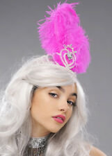 Bright Pink Feather Showgirl Headdress