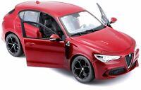 Alfa Romeo, Stelvio - Red, Model Car, Burago 1/24 Scale New and Sealed