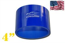"4PLY Silicone Straight Coupler Hose Coupling 102mm 4"" Blue"