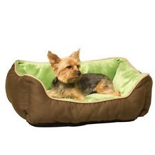 "K&H Lounge Sleeper Self-warming Pet Bed 16"" X 20"" Mocha / Green Dog or Cat"