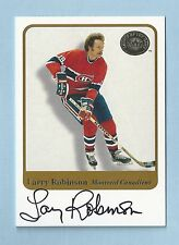 LARRY ROBINSON 2001 GREATS OF THE GAME AUTOGRAPH AUTO