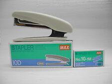 MAX STAPLER HD-10D free 2 boxes staples (Gray colours)