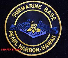 SUBMARINE BASE PEARL HARBOR PATCH SUB DOLPHIN HAWAII US NAVY VETERAN PIN UP GIFT