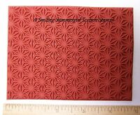 Geometric Pattern Unmounted RUBBER Texture Stamp Polymer PMC Clay Molding Mat