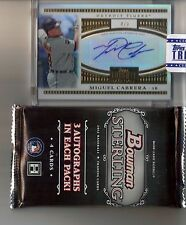 2012 Topps Tribute Miguel Cabrera To The Stars Auto #/9 Bowman Sterling Pack