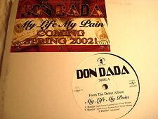 "DON DADA- HUSTLER3 VERSIONS 2X EACH(MY LIFE MY PAIN)-DA DIRTY SOUTH  NM/VG+  12"""