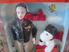 Collector Edition Aviator BARBIE Doll With Faux Leather Jacket and SNOOPY