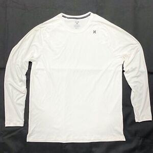 Hurley Men's XL Nike Dri-Fit UPF 50X White Long Sleeve Shirt EXTRA LARGE TOP