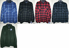 Croft & Barrow long sleeve Button Zip Fleece shirt Colors warm Very Soft Colors