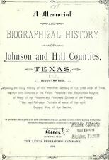 1892 JOHNSON and HILL County, Texas TX, History & Genealogy Ancestry DVD CD B17