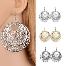 DR7 Round Hollow Loop Flower Hook Earrings Ear Ring Women Girl Jewelry Gift Late