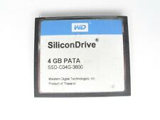 WD SiliconDrive 4GB PATA SSD-C04G-3800 CF Compact Flash Memory Card