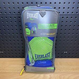 Everlast Pro Style Elite Training Boxing Size 14 Oz Gloves Evershield Blue Lime