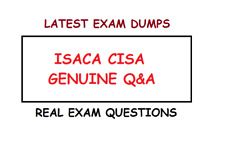 ISACA CISA REAL EXAM DUMPS Questions and answers