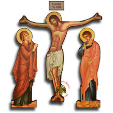 Orthodox Jesus Christ Corpus Crucifix With Holy Theotokos & Saint John Set Kreuz