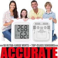 LCD Digital Temperature Humidity Meter Monitoring Thermometer & Hygrometer TA