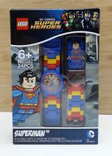 Reloj Lego Oficial DC Comics Super Heroes Superman constructor de la Liga De La Justicia Nuevo Y En Caja