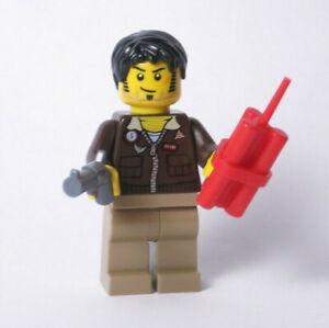 Jake Raines Aviator Jacket Pharaoh's Quest 7326 30090 7307 LEGO Minifigure