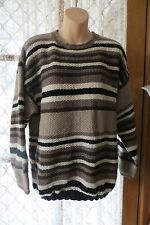 VINTAGE  80'S ~ EQUIPMENT ~ Stripe Wool JUMPER * Size M/L *