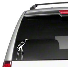 """Stand Tall giraffe 7"""" Car Vinyl Sticker Decal unique inspirational africa *E7*"""