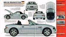 1997/1998 BMW M (Z3) ROADSTER SPEC SHEET/Brochure