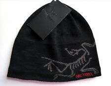 ARCTERYX Canada WOOL Black Skull BEANIE HAT OSFA Toque UNISEX New Tags