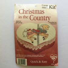 Christmas in The Country Horse Cross Stitch Kit Makes 1 Heart Box Quick & Easy