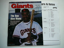 """SAN FRANCISCO GIANTS 1993 MAGAZINE-BARRY BONDS FRONT COVER """"THE SON ALSO RISES"""""""