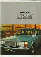 VOLVO 265 DL AND 265 GL  SALES BROCHURE 1977