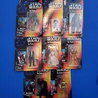 Lot of 8 Kenner Star Wars Power Of The Force Figures Darth Luke Lando Boba R2D2