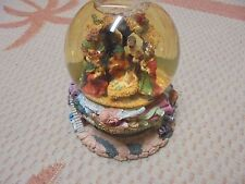 "Nice Detailed Christmas Manger Snow Globe Dome  Musical ""Silent Night"" 10x8"