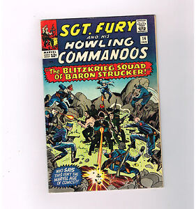 SGT FURY #14 Fantastic grade 8.0 Silver Age find from Marvel!