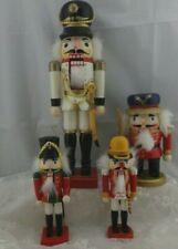Lot of 4 Vintage Wood Decorative Nutcrackers Christmas