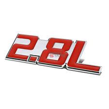AUTO METAL BUMPER TRUNK GRILL FENDER EMBLEM STICKER BADGE CHROME RED 2.8 2.8L