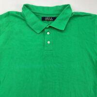 Boca Classics Polo Shirt Men's XL Short Sleeve Green High Low Hem Cotton Casual